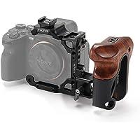 (Czarny) TILTA TA-T18-A-B Półklatka na aparat + drewniany uchwyt kompatybilny z Sony Alpha 7S III / A7S III / A7S3 lekki…