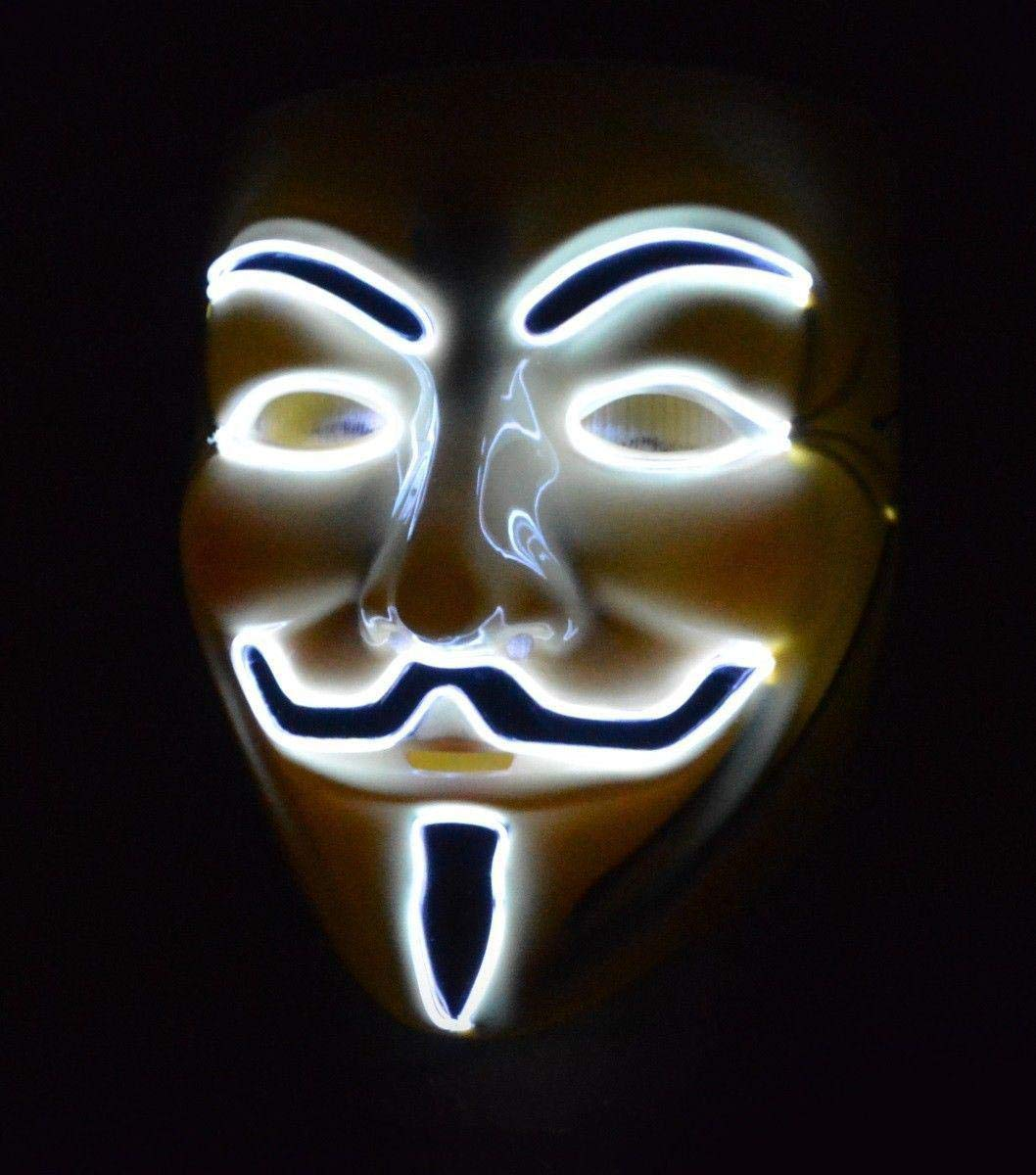 Flashez led anonymous hacker face mask light up guy fawkes v for vendetta festival party rave fancy dress uk brand amazon co uk toys games