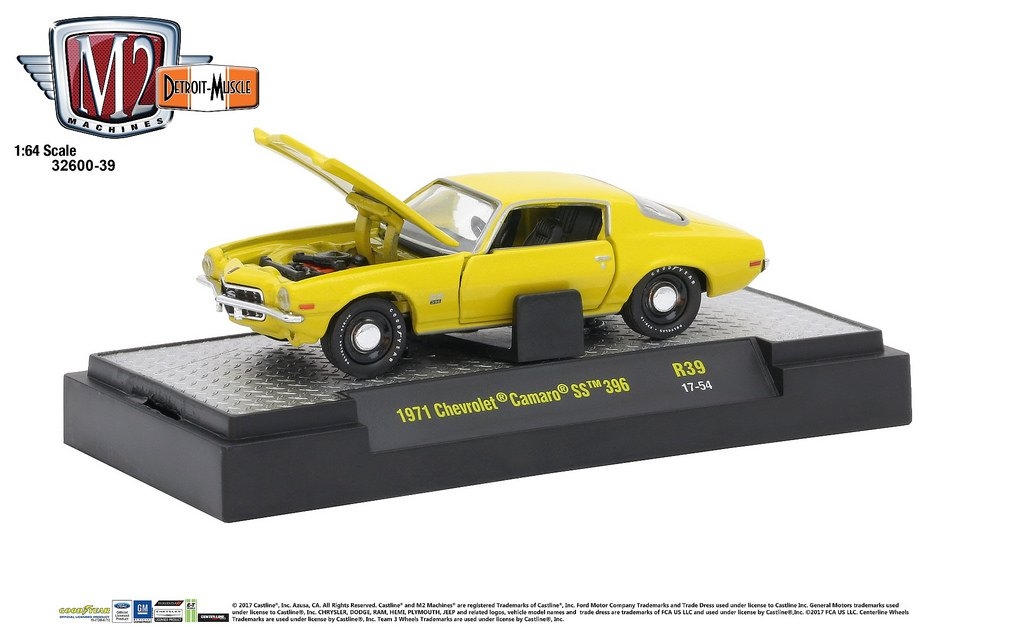 M2 Machines 1:64 Detroit Muscle Release 39 1971 Chevrolet Camaro SS 396