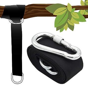 AMANKA Kit para Colgar en árbol sillas Colgantes 150kg 1 ...