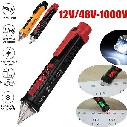 12V-1000V Electrical Non-contact AC Voltage Detector Test Pen Meter Tester Alert