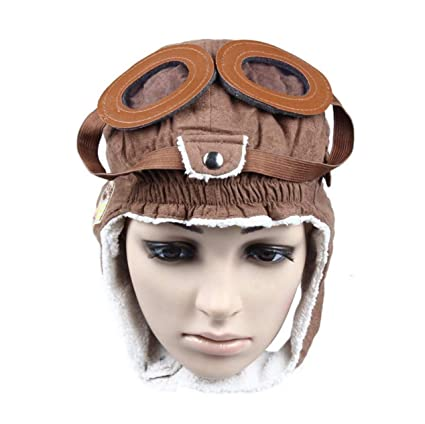 49274e30e3d Amazon.com  Warm Baby Kid Toddler Winter Earflap Pilot Cap Hat Beanie  Flight Helmet  Toys   Games