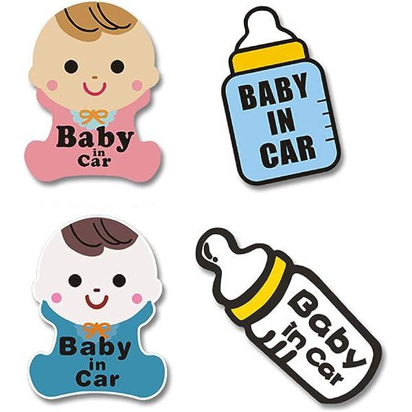 TownStix Footprint Baby on Board Window Decal Stickers BOB 3-in-1 Baby in Car