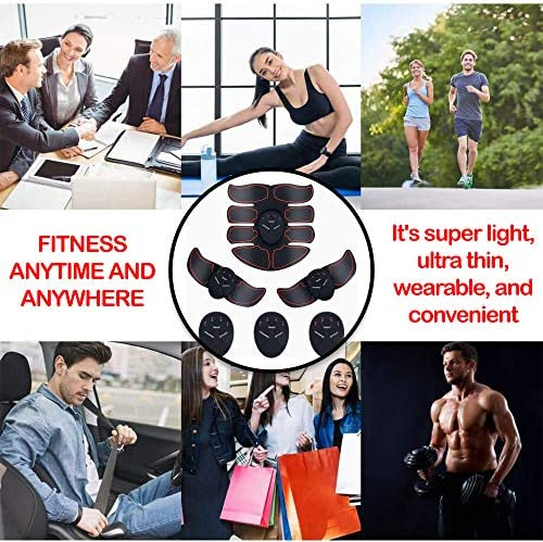 MORPHEUS MAX Muscle Trainer Workout Belt Body Training Abs Workout Equipment Abdominal Training Portable Unisex Fitness Gear for Abdomen/Arm/Leg Training Home Office Exercise (black) (black) (black) 6