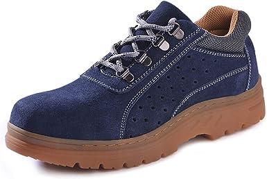SFOXL Hombre Zapatos Seguridad con Punta de Acero Transpirable Comodas Calzado de Trabajo Deportivos Unisex-Adulto Zapatillas de Trail Running: Amazon.es: Zapatos y complementos