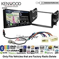 Volunteer Audio Kenwood Excelon DNX994S Double Din Radio Install Kit with GPS Navigation Apple CarPlay Android Auto Fits 2012-2013 Hyundai Accent (Radio Delete Models)