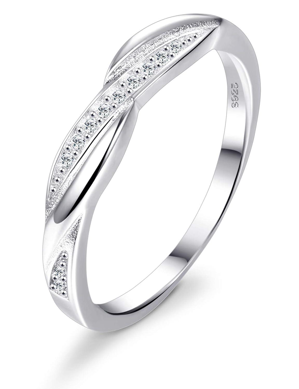 BESTEEL Anello Argento 925 per Donna Fidanzamento e Matrimonio Anello Oro Anelli con Zircone Fashion Jewelry Gift Box R015Y