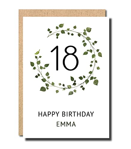 Personalised 18th Birthday Card For Daughter Grand Friend Women Floral Funny Sister Niece Her