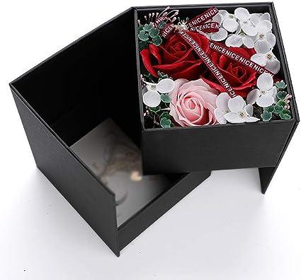Caja de regalo para mujer con diseño de flores de doble capa ...