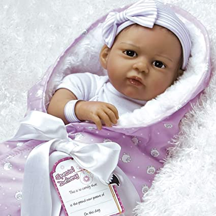 c15486746 Amazon.com  Paradise Galleries Reborn Baby Girl Doll in Silicone ...