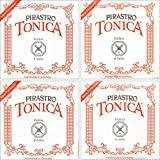 Pirastro Tonica 4/4 Violin String Set - Medium Gauge with Loop End E