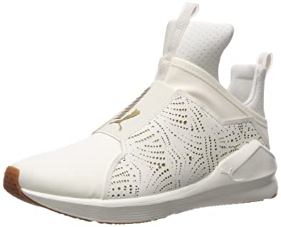 new concept 791dc d6e68 PUMA Women s Fierce Lasercut Wn Sneaker, Whisper White-Gold, ...
