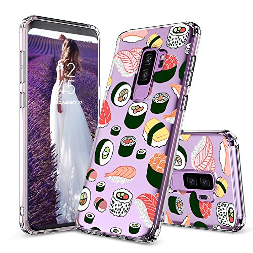 - Galaxy S9 Plus Case, Clear Galaxy S9 Plus Case, MOSNOVO Cute Sushi Clear Design Printed Transparent Plastic Hard Back Case with TPU Soft Bumper Case Cover for Samsung Galaxy S9 Plus
