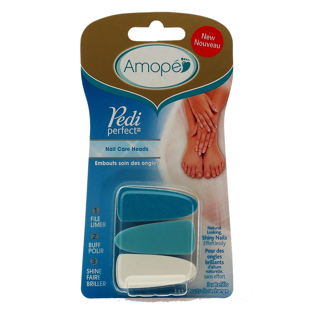 Amope Pedi Perfect Nail Care Heads (3 Pack) 951386