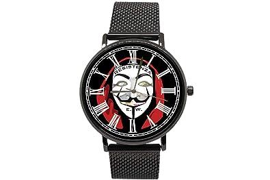 EREMITI JEWELS - Reloj de Pulsera, máscara de los V para Vendetta Resistencia Estilo la casa de Papel, Modelo CLUSE o Daniel Wellington, Idea Regalo Hombre ...