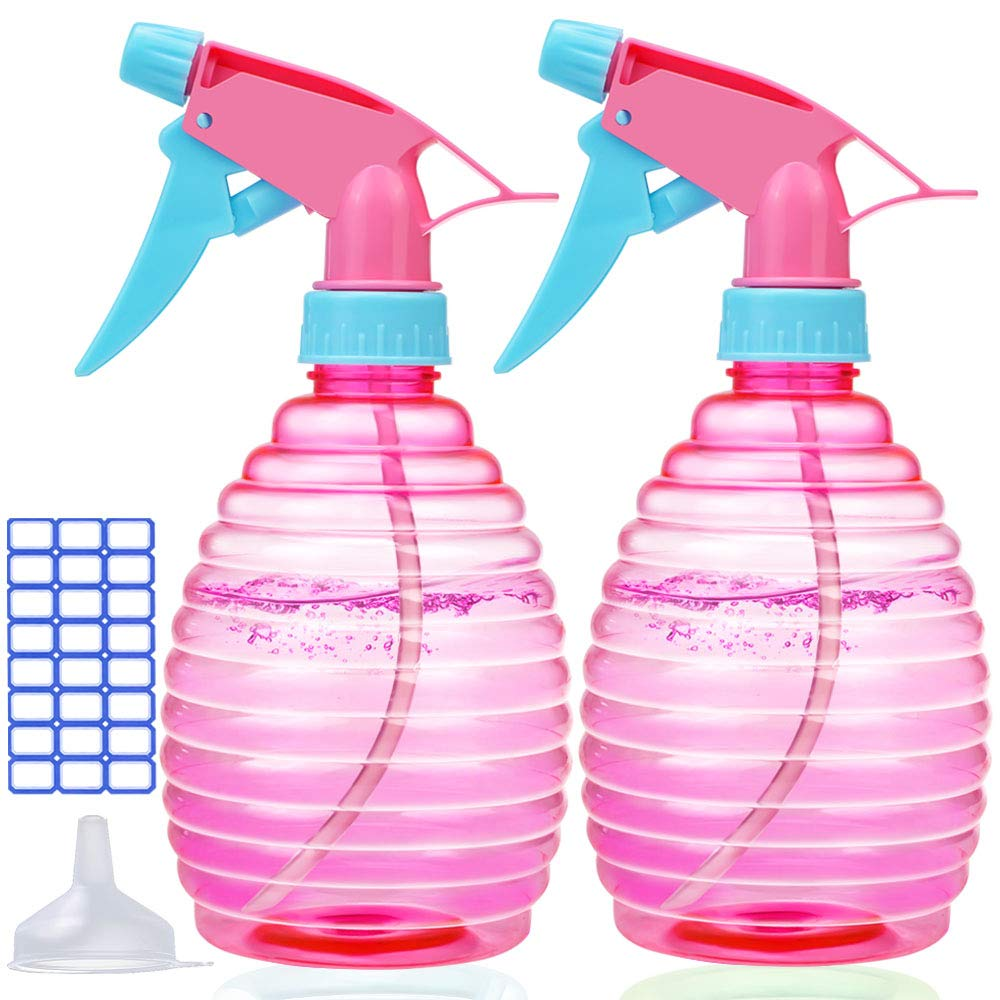 Spray Bottle for Hair - 16 oz Empty Spray Bottles Attractive Vibrant Colors - Multi Purpose Use Durable - BPA Free Material - Spray Bottles for Cleaning Solutions! (2PACK)