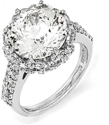 Sterling SIlver Fancy /& CZ Ring.