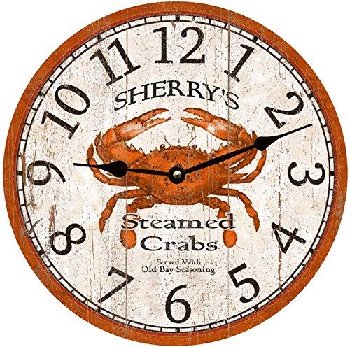 - Personalized Crab Clock- Crab Wall Clock