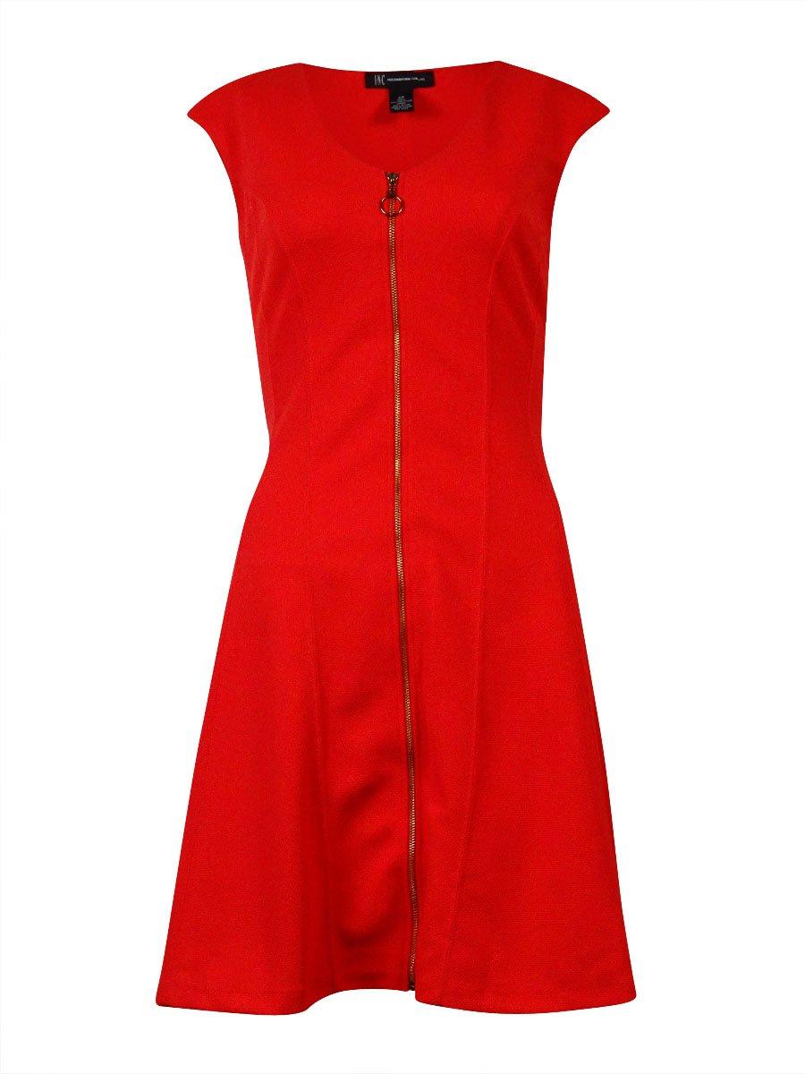 INC Womens Polyester Zipper Cocktail Dress Red XL