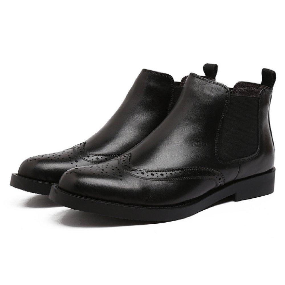 NIUMJ Lederschuhe Für Herren Mode Mittlere Hilfe Geschäft Lässig Chelsea Schuhe Schuhe Chelsea Baumwollstiefel Warm Rutschfest 455f19