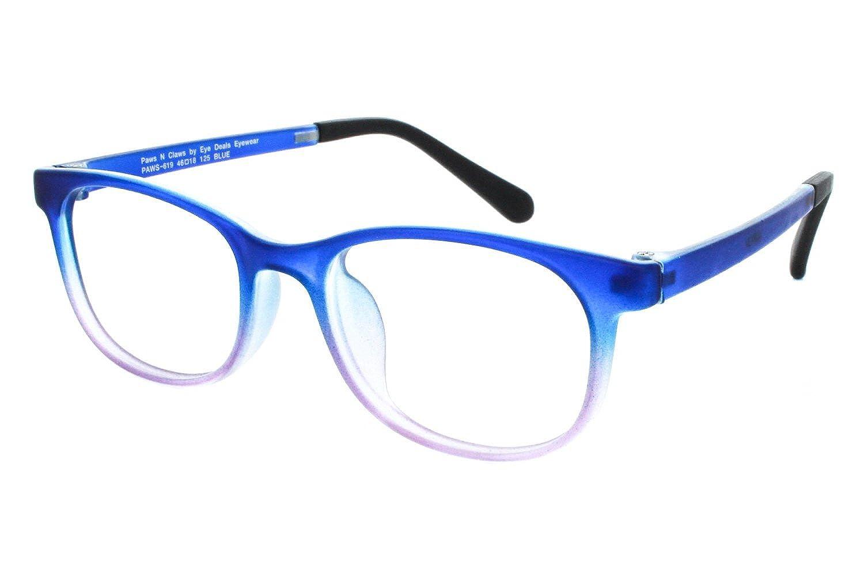 fe94aa0eec46 Amazon.com  Paws n Claws Paws 619 Womens Eyeglass Frames - Blue  Clothing