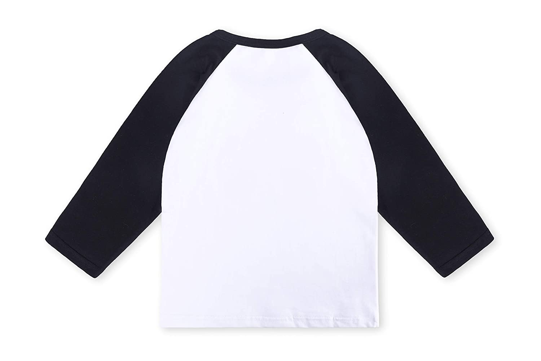 Toddler Baby Girls Boys Long Sleeve Shirts Raglan Shirt Baseball Tee Cotton T-Shirt