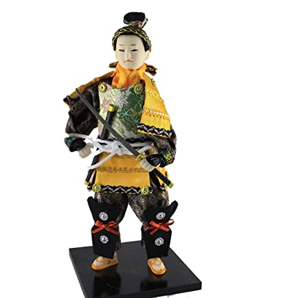 Amazon.com: Heartrace 26cm Japanese Ethnic Samurai Man Doll ...