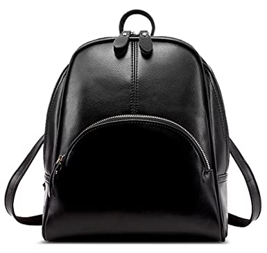Amazon.com | Zicac Womens Fashion Simple Style Leather Backpack ...