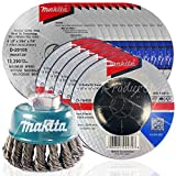 4 1 2 grinding cup - Makita 16 Piece - 4 1 2 Grinding & Cutting Wheel Wire Cup Set For Grinders - Grind, Cut & Condition For Metal - 4-1/2