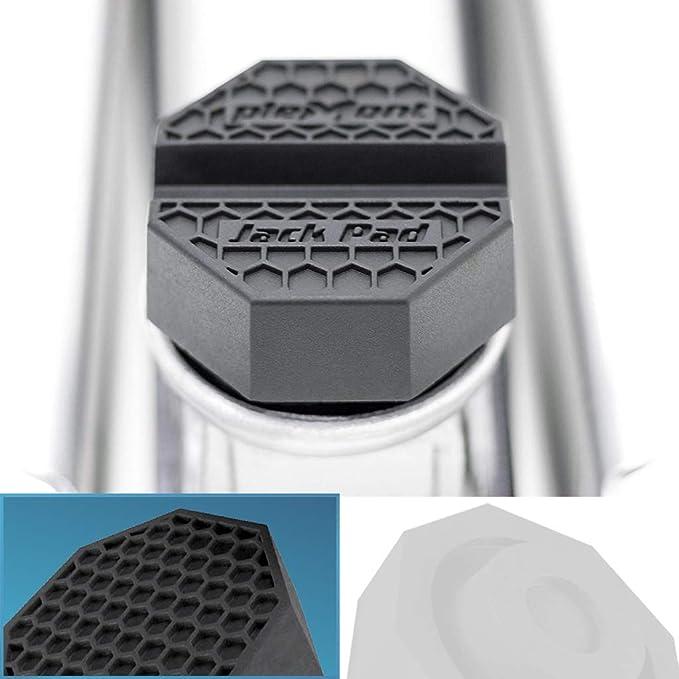 Plemont® Goma Gato hidraulico [Jackpad Plano] - Fabricado en Europa - Bloque Goma Gato hidraulico Compatible con Todos los bastidores comunes del vehículo - Jackpad para Gato Coche: Amazon.es: Coche y moto