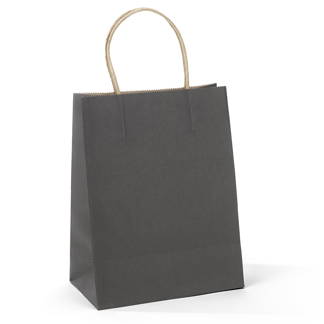 Halulu 50 Pcs 10x5x13 Inches Kraft Paper Bags Handle Shopping Bags Merchandise and Retail Bags Gift Bags (Black)