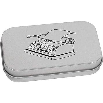 Azeeda 80mm x 50mm Máquina de Escribir Caja de Almacenamiento / Lata de Metal