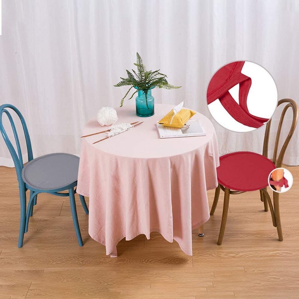 Cushions with Ties Round Chair Pads for Armchairs Garden Outdoor Indoor Chair