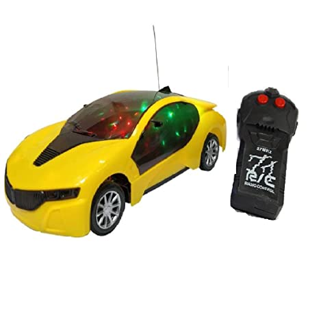 5a077dbcd4320 Buy New Pinch Remote Control 3D Lighting Effect Racing Car with 2 Functions  (Multicolour) Online at Low Prices in India - Amazon.in