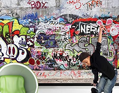 photo wall mural no 162 \u0027cool graffiti\u0027 400x280cm, dimensionsimage unavailable image not available for