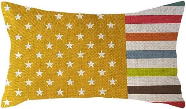 Funda de cojín, 30 x 50 cm, diseño de bandera nacional minimalista: Amazon.es: Bricolaje y herramientas