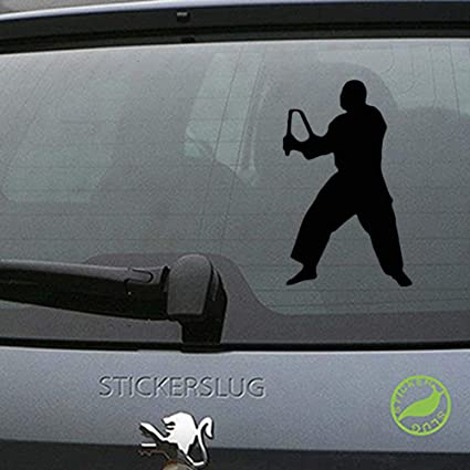 Amazon.com: Ninja Decal Sticker (Black, 8 inch Reversed) for ...