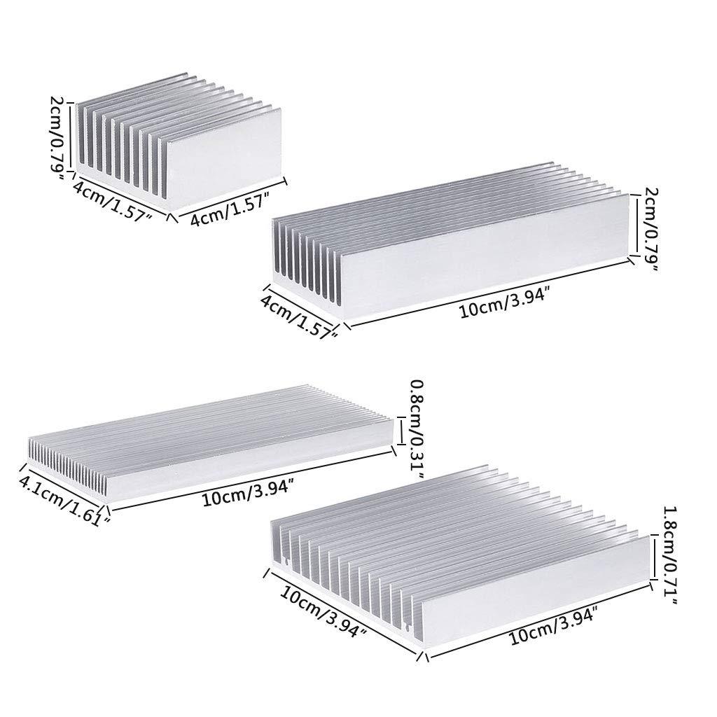 MANGKE for High Power LED IC Chip Cooler Radiator Heat Sink Extruded Aluminum Heatsink D