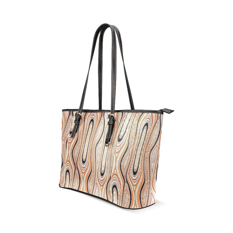 Abstract Swirl Geometric Custom PU Leather Large Tote Bag/Handbag/Shoulder Bag for Fashion Women /Girls