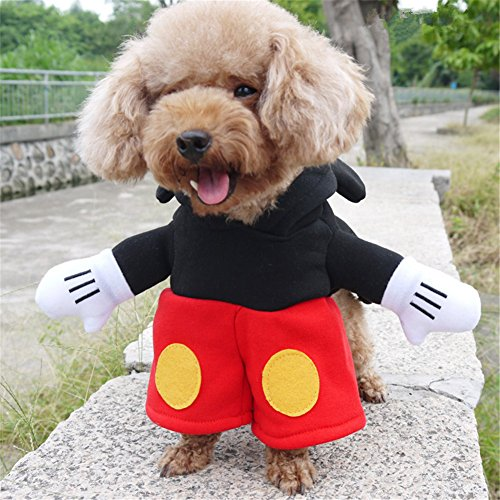 NACOCO Pet Costumes Dog Clothes, Mickey, (Dog Mickey Mouse Costume)