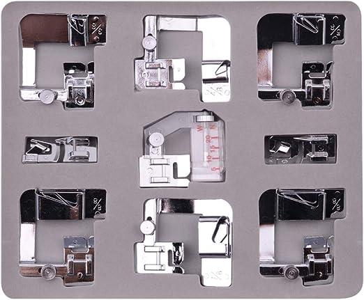 Topke 9pcs Máquina de Coser eléctrica de Punto Rodillo prensatelas ...