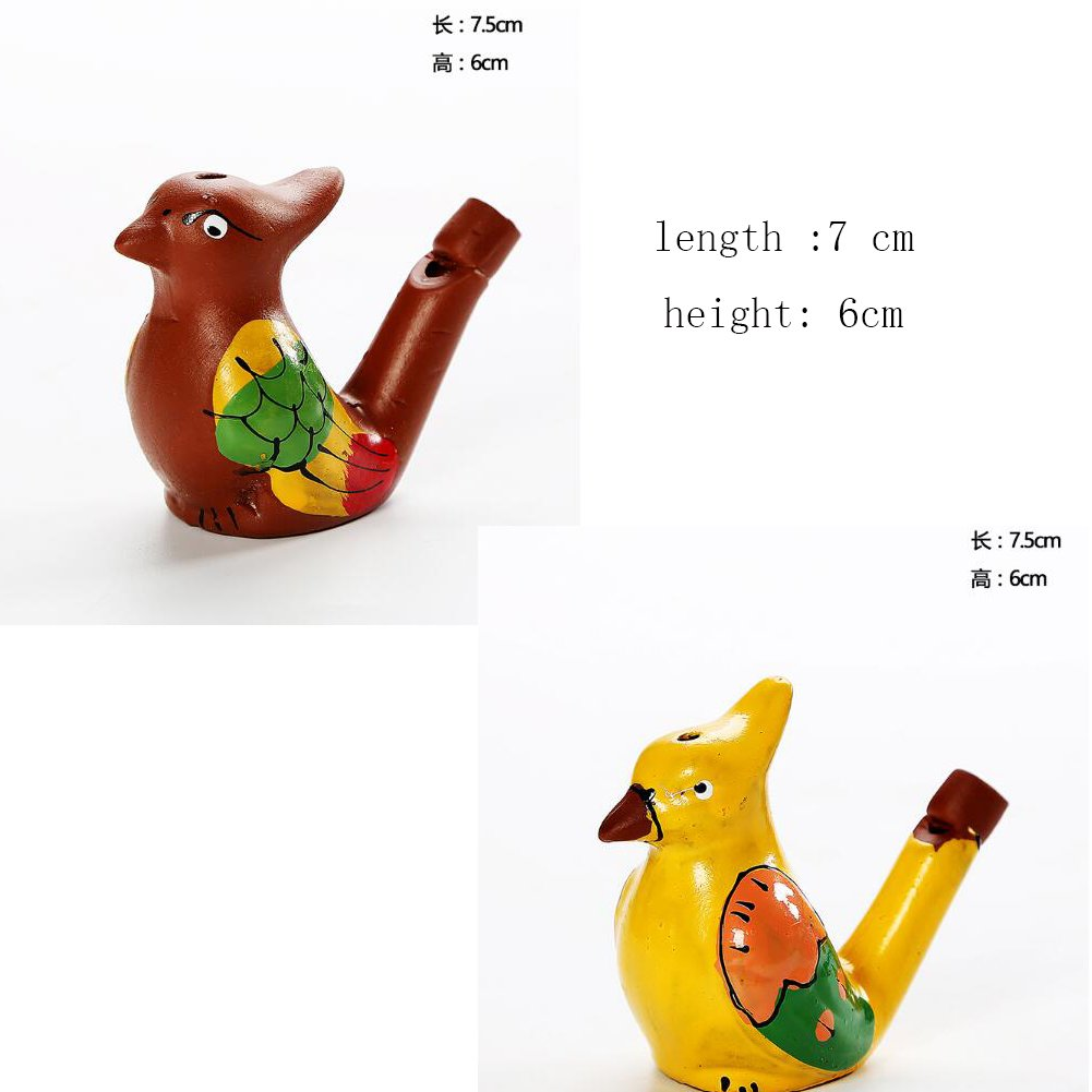 2 St/ück Keramik Vogelpfeife Spielzeug f/ür Kinder