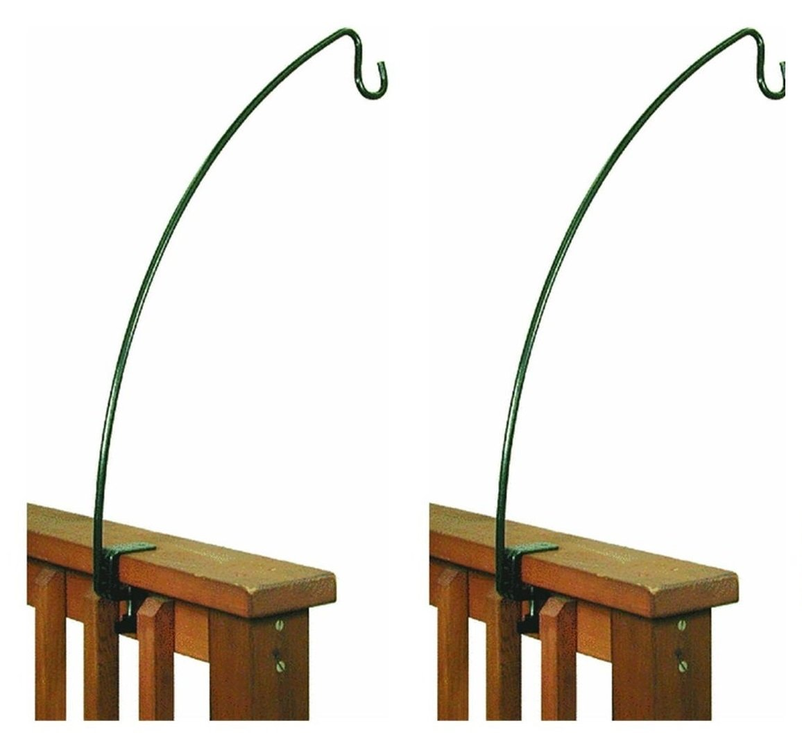 Stokes Select 24-Inch Metal Clamp-On Deck Hook for Bird Feeder (.2-Pack)