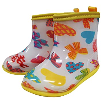 73dfde75afdfd 子供用長靴 キッズ レインシューズ レインブーツ 長靴 女の子長靴 マーブルライン-りぼん