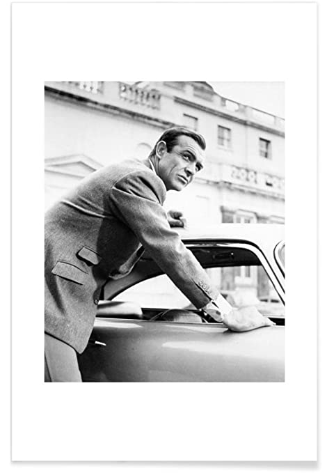 Juniqe posters 20x30cm actors actresses black white design sean connery as
