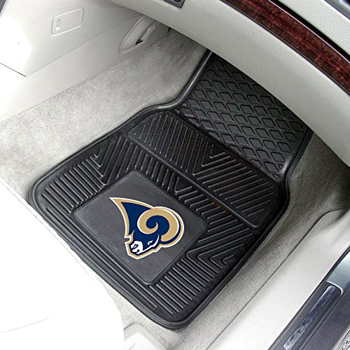 NFL St. Louis Rams 2-Piece Heavy Duty Vinyl Car Floor Mat Set with Logo