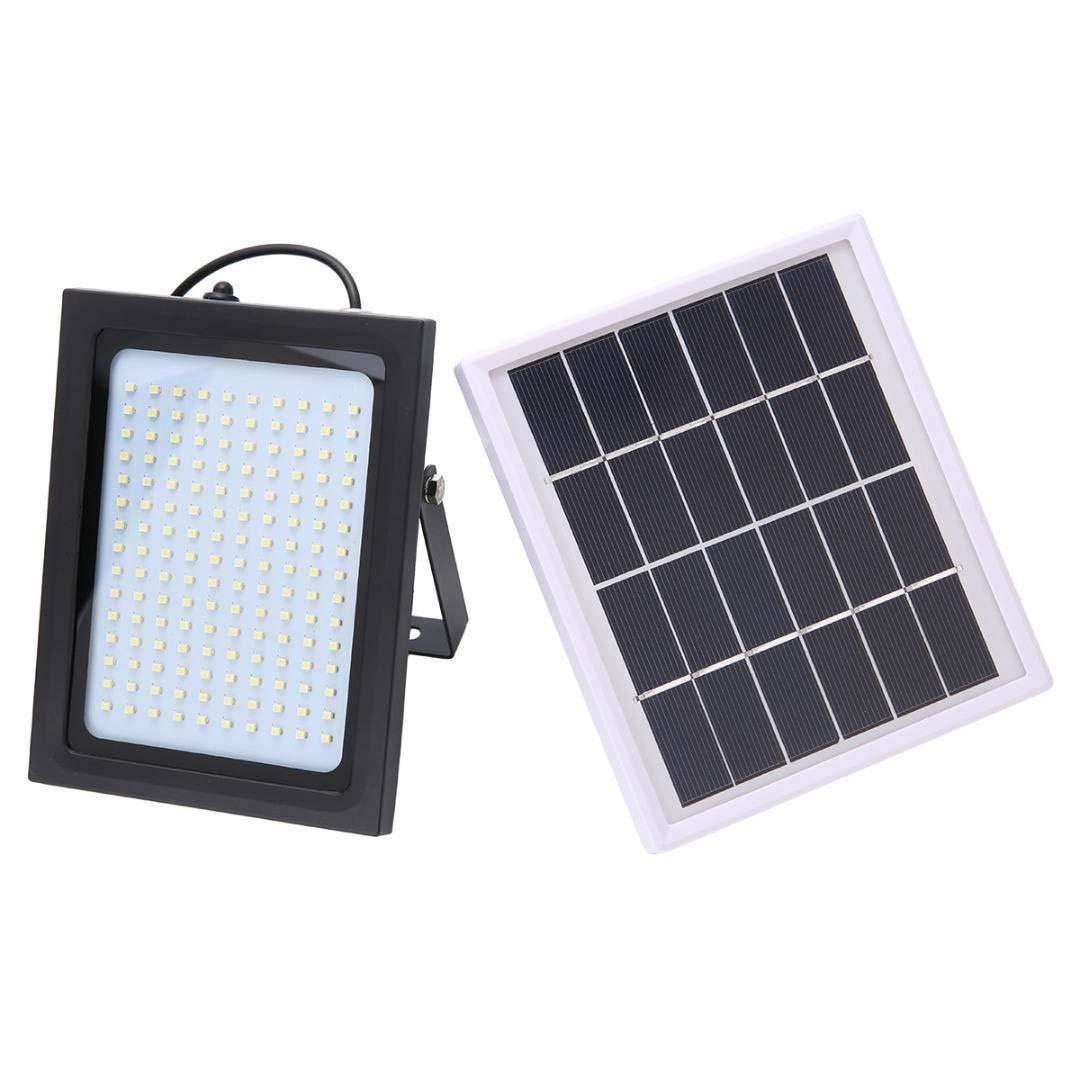 150 LED-Solarlicht - Superhelles Mikrowellenradarinduktionsflutlicht im Freien wasserdichtes IP65-Lichtsteuerungs-Gartenterrasse-Sicherheitslampen,Gelb