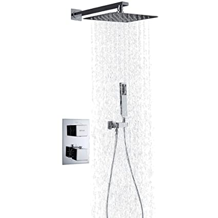 Esnbia Thermostatic Shower Systems Wall Mounted Shower System with ...