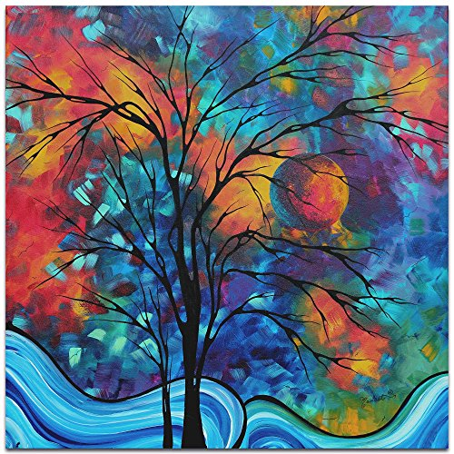 Metal Art Studio Landscape Painting 'A Secret Place' by Megan Duncanson-Abstract Tree Contemporary Modern Art, Metal (Com Abstract Art Painting)