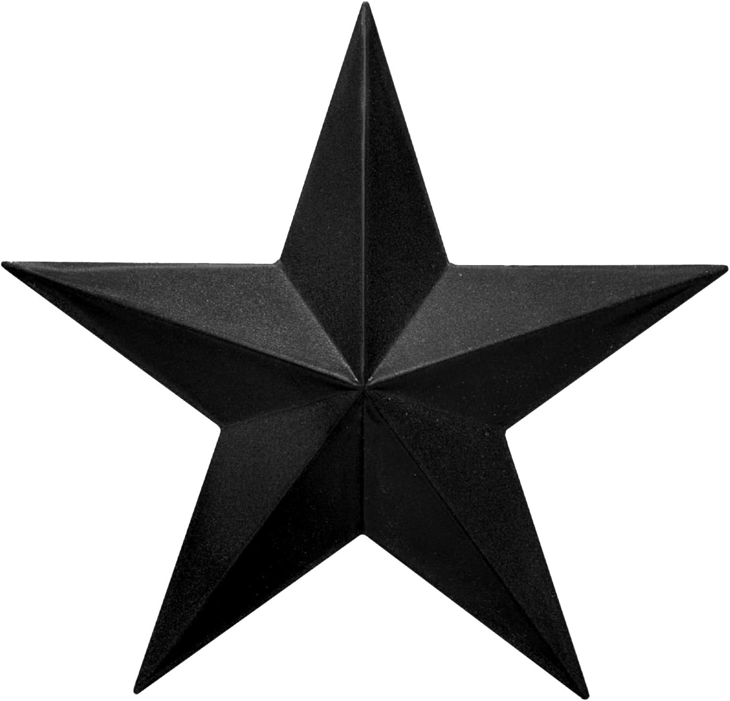 "EcoRise Black Barn Star – Star Wall Décor, Metal Stars for Outside or Inside of House, Iron Texas Metal Star Rustic Vintage Western Country Home Farmhouse Wall Art Decorations (12"")"